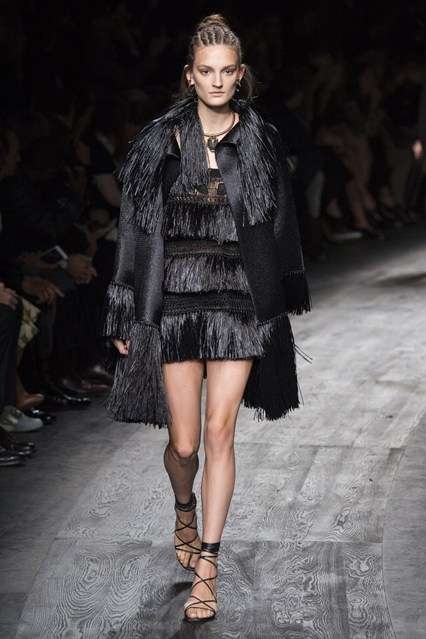 Fringe has been trending for a few seasons now, and it seems that it'll continue to be in for S/S 2016. Play around with a fringe dress, top, or even shoes for S/S 2016. Designers from Diane Von Furstenburg to Valentino experimented with fringe for their S/S ready-to-wear 2016 collections.