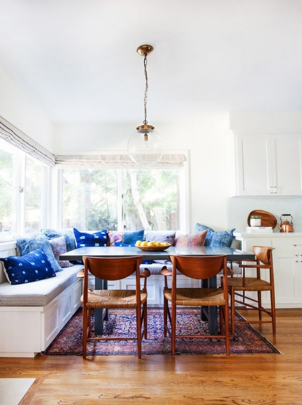 I Love The Combination Of Traditional And Contemporary Pieces Mixed In With Moroccan Indigo Textiles That Give A Room Just What It Needs To Feel Unique