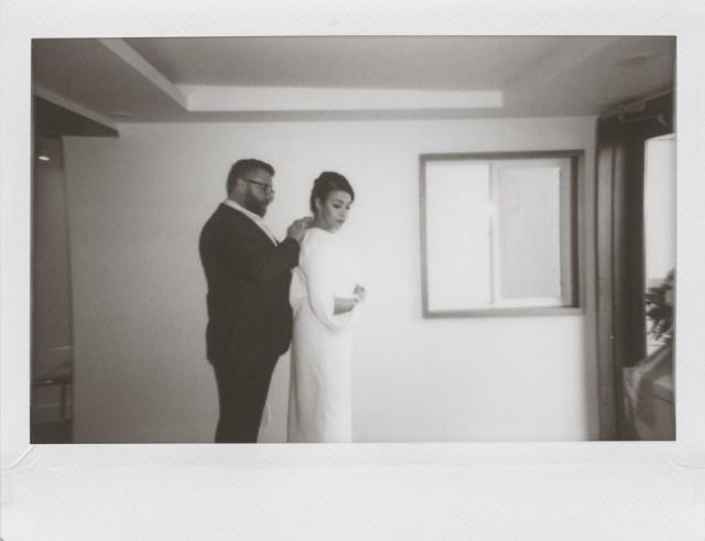 Polaroid elopement mairie de San Francisco