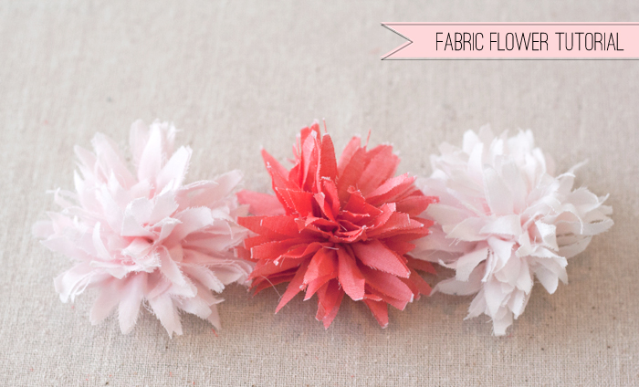 Fabric Flower Tutorial     Matchbox Kitchen