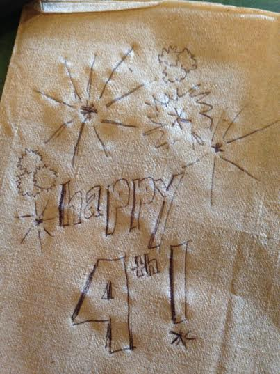 happy 4th napkin