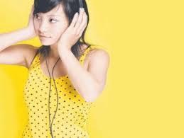 headphones and polkadots