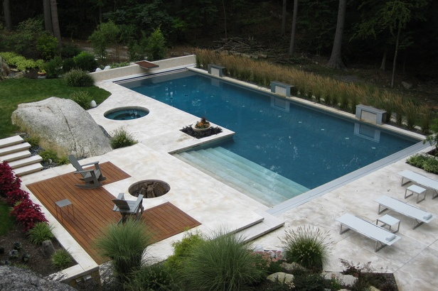 40 Fantastic Outdoor Pool Ideas — RenoGuide on L Shaped Backyard Layout id=40777