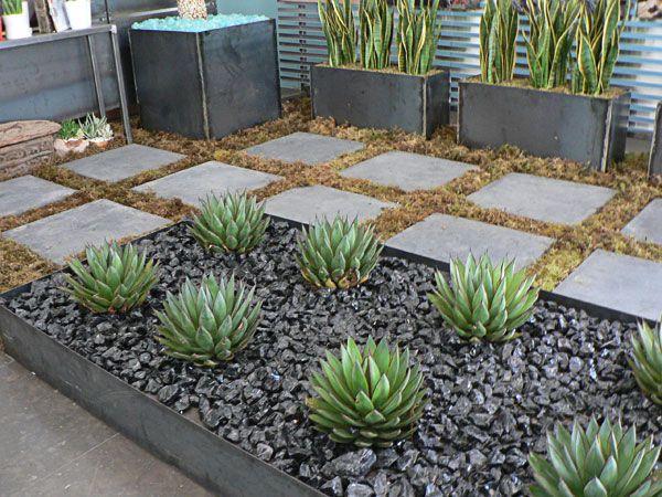 modern succulent garden ideas 50 Modern Front Yard Designs and Ideas — RenoGuide