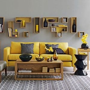 30 Elegant Living Room Colour Schemes     RenoGuide stylish bright yellow living room