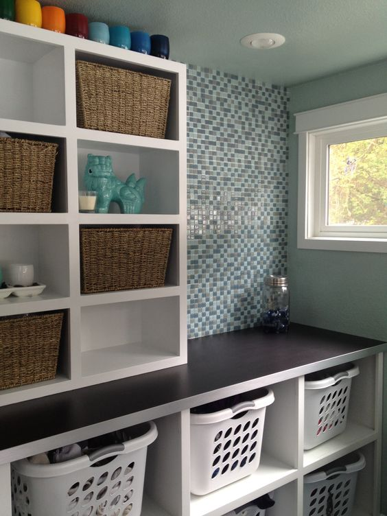 40 Small Laundry Room Ideas and Designs — RenoGuide ... on Laundry Room Shelves Ideas  id=94119
