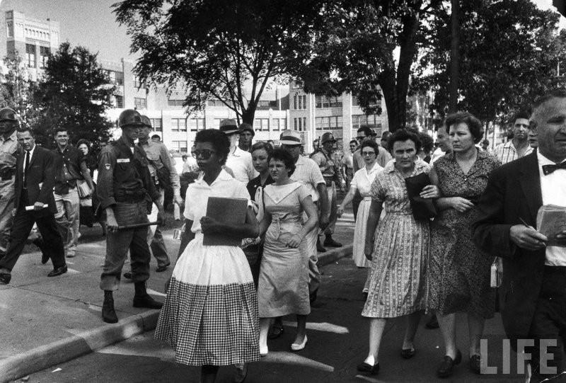 The Little Rock Nine—Little Rock Central High, 1957