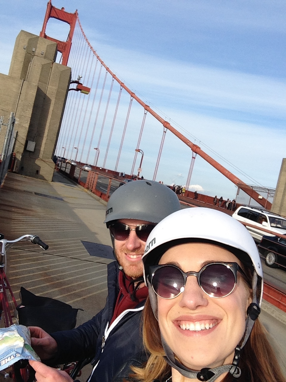 Cycling over the Golden Gate Bridge in San Francisco. One of my favourite days from our honeymoon.