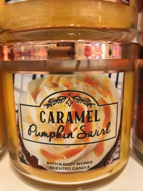Ribbons of pumpkin laced into sweet sticky caramel..anyone else thinking of a decadent fall drink? Yeah, best part of this is the scent is calorie free, and lasts longer. A way better investment if you ask me!