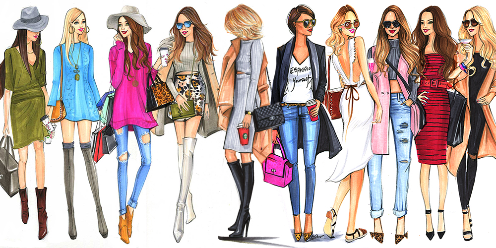 Fashion and beauty illustrator Rongrong DeVoe   Freelance Fashion     Fashion Illustrations of street fashion bloggers by houston fashion  illustrator Rongrong DeVoe jpg