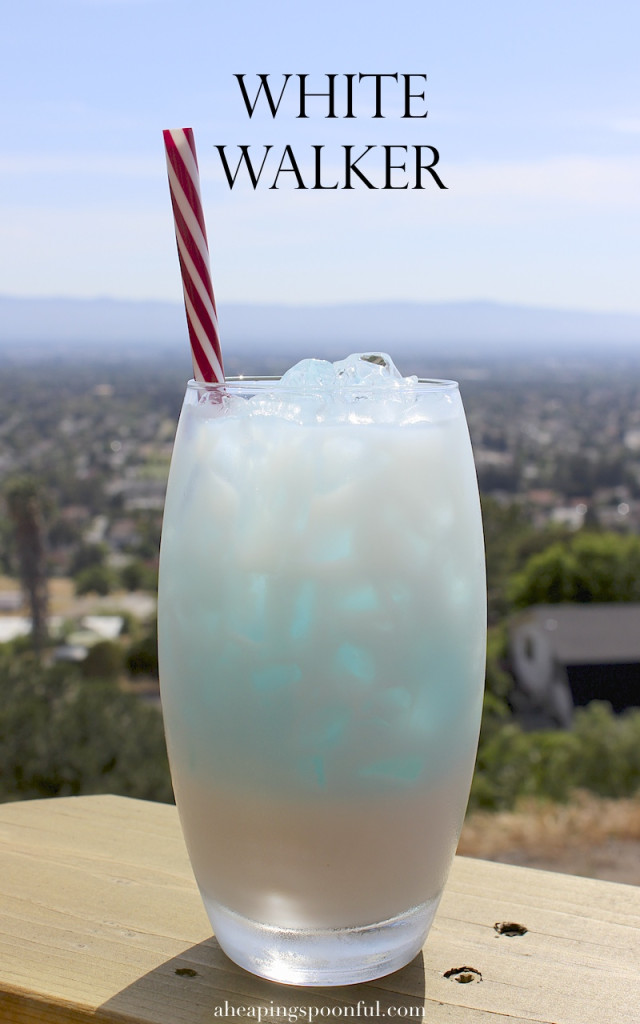 White Walker icy blue cocktail for your Game of Thrones series finale watch party.