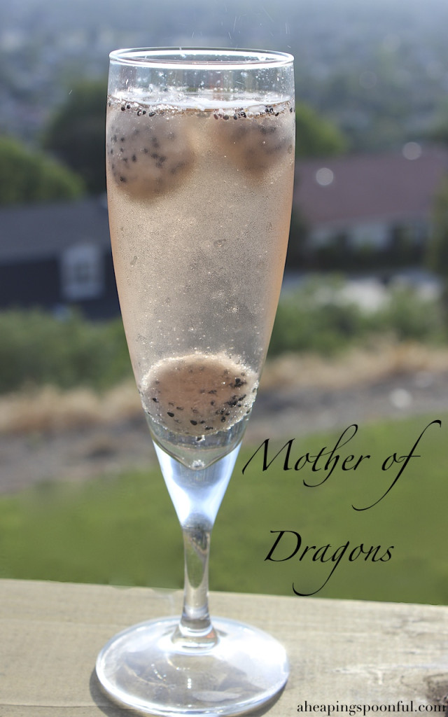 Mother of Dragons Dragon Fruit Mimosa for your Game of Thrones series finale watch party