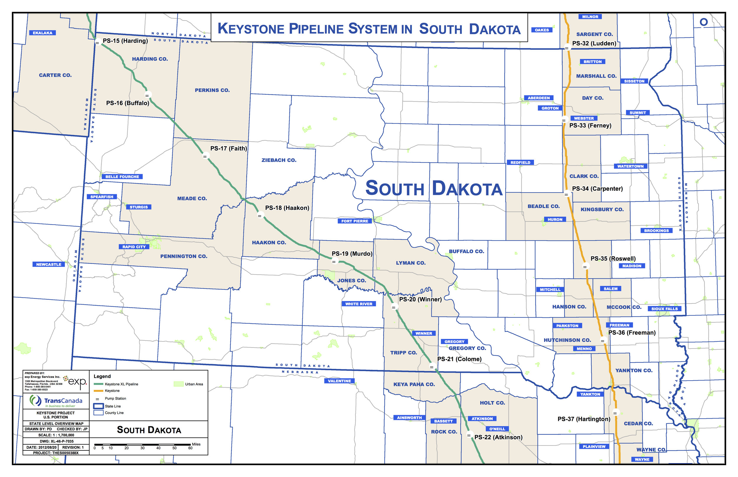 Meade County Sd Road Map