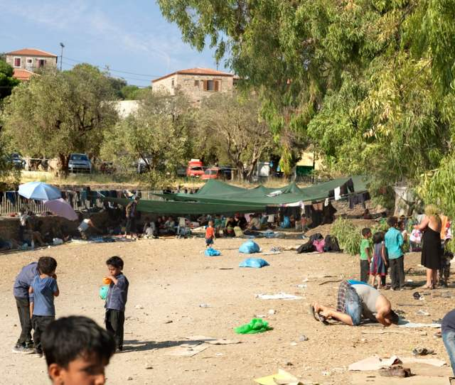 The Parking Lot Where Refugees Were Required To Wait For A Bus Who Would Take Them