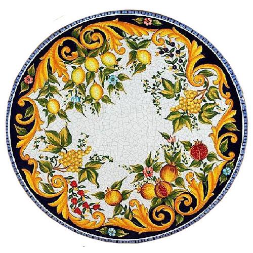 Italian Deruta Garden Tables Amp Tops Bellinis Antique Italia
