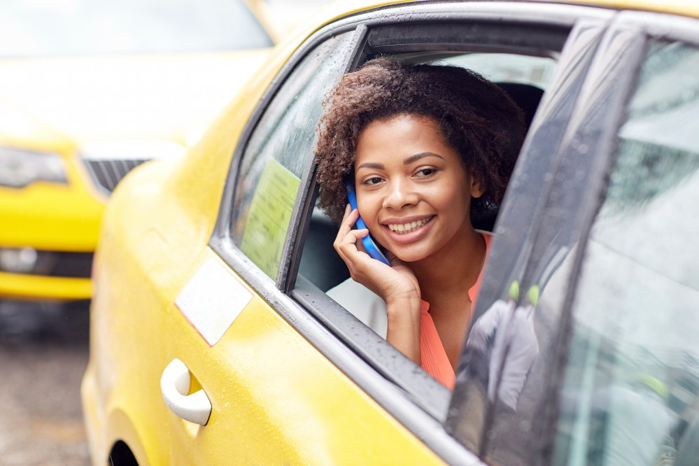 Image result for girl on phone in cab