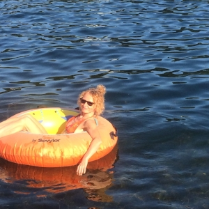 Now this is what a rest day should look like. Adrift on Lake Winola.