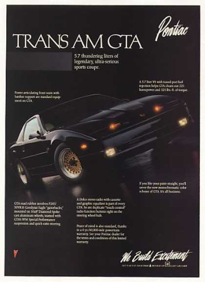 1980's - Pontiac Trans Am GTA