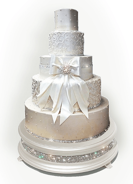 Ivory Pearl Diamond Cake Stand     Wedding cake stands crafted in the     18  Pearl diamond bling wedding cake stand shown