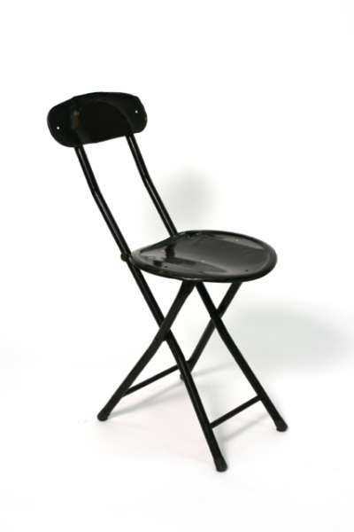 Small Black Metal Folding Chair Hook Props