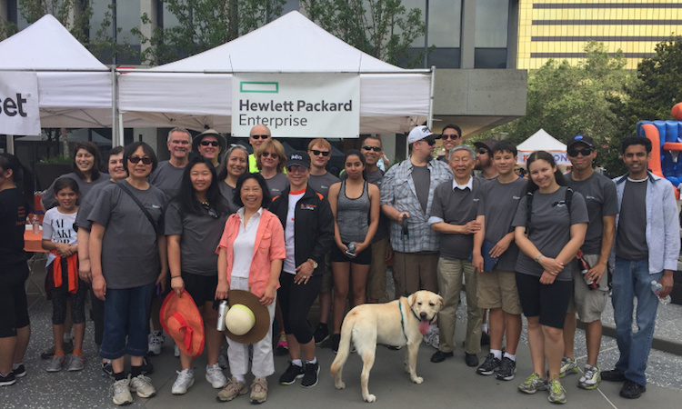 HPE Bay Area employees raised over $40,000 for the National Kidney Foundation and participated in the Silicon Valley Kidney Walk