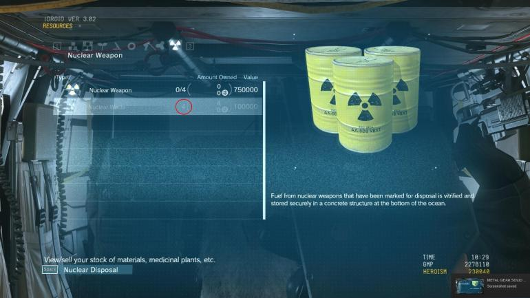MGSV gave players the ability to keep nuclear weapons on their base, or disarm any they come across.