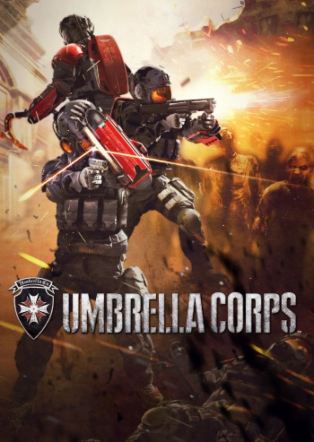 Umbrella Corps is a competitive multiplayer shooter that features zombies. Players play as a mercenary from two different corporations, and they are tasked to co-operate with their fellow mercenaries to eliminate all the hostile players. The game's maps are described as