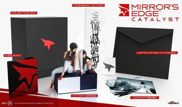 This very nice, but very expensive, collector's edition has some cool pieces including a figure that reminds players the game is Faith's backstory as much as a reboot.