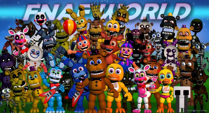 FNAF World is an RPG spin-off of the FNAF series