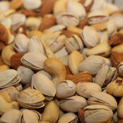 Shelled nuts are good for in-transit, but i looove me some pistachios!