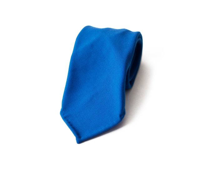 Italia Blue Hand Made Vintage Wool Tie 7 Fold