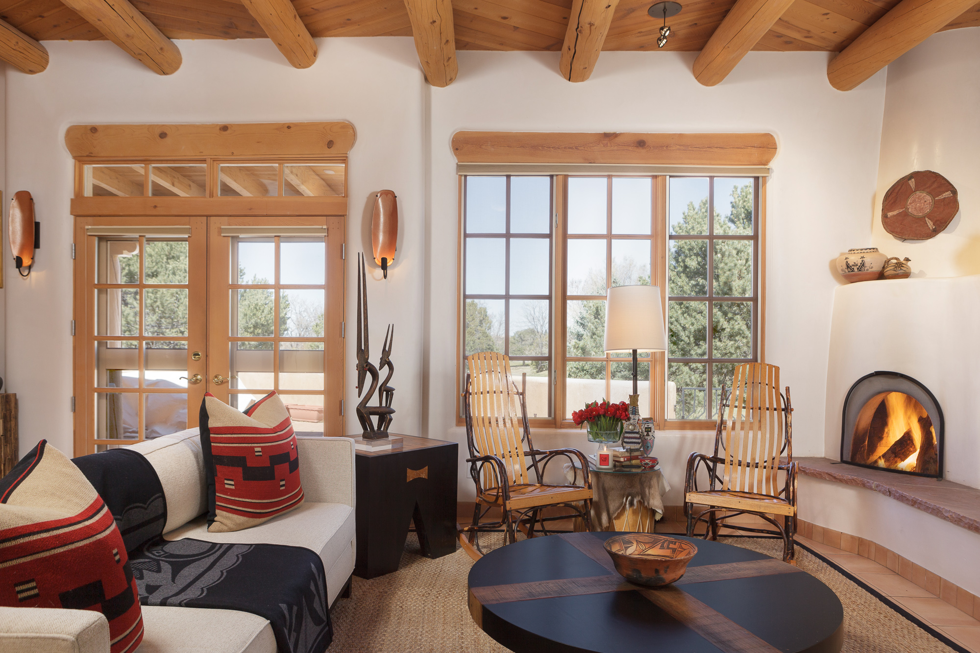 Two Pines     Chandler Prewitt Design New Mexico Style  interior design  southwest style