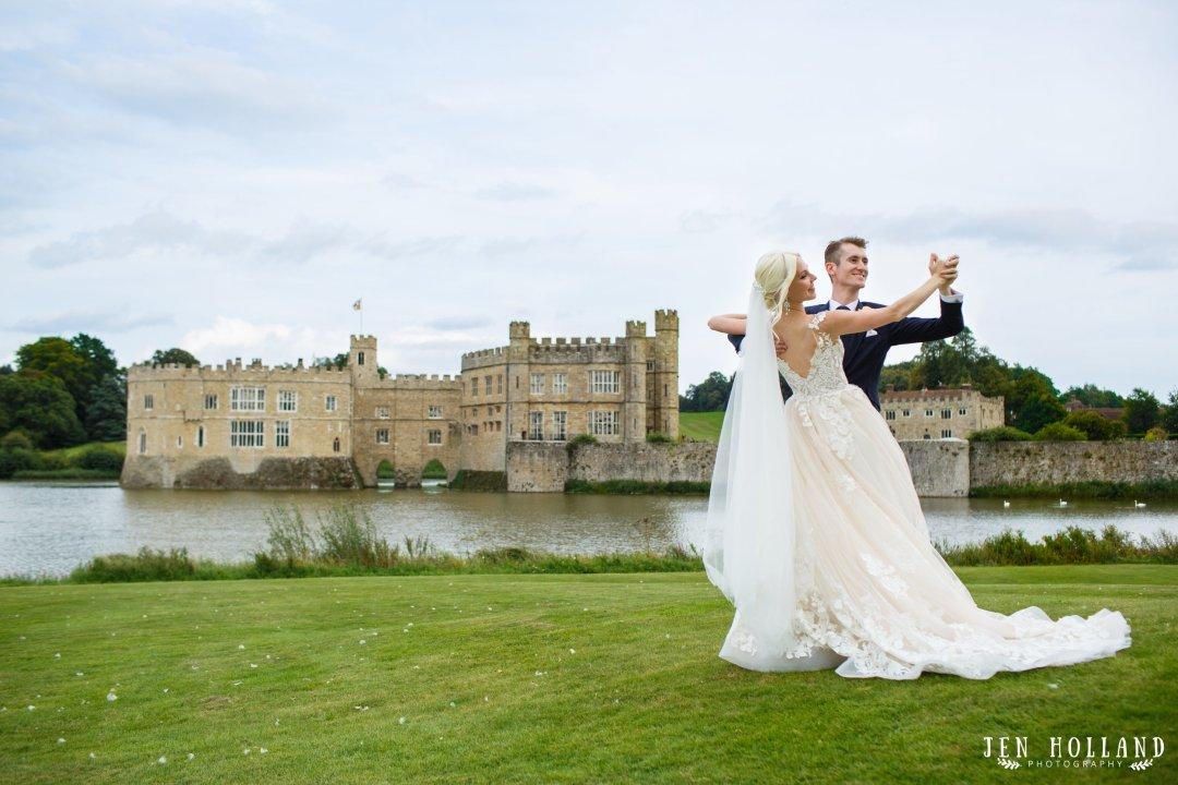 Ballroom dancing couple at leeds castle