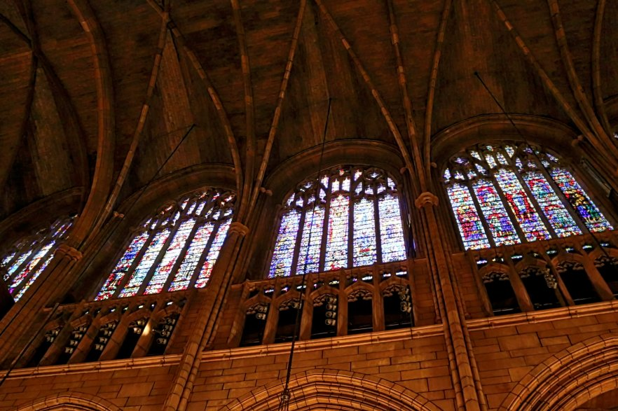 The vaulted ceiling at St. Thomas Church in New York City. Photo credit: Brandon K. Tan.
