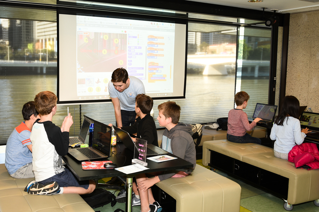 A children's coding club using Scratch to learn computer programming concepts.