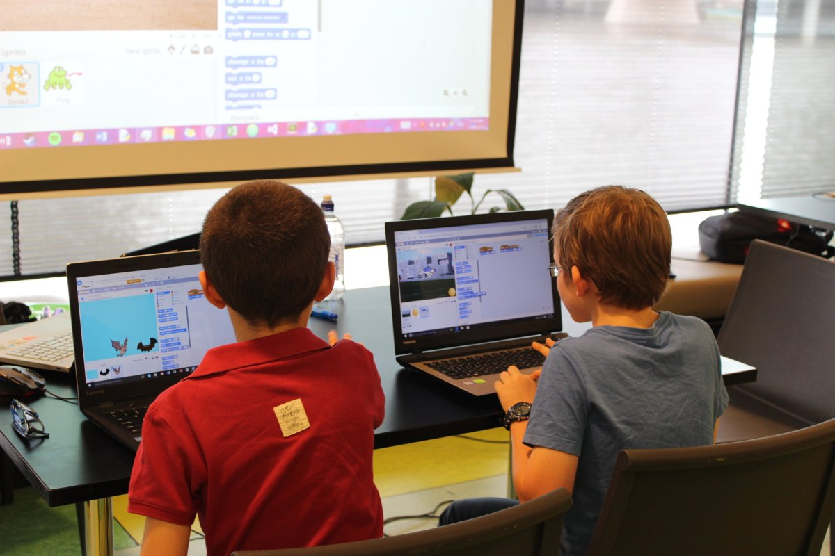 Children discovering computational thinking by designing their own computer game.
