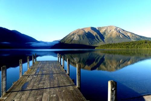 ท่าเทียบเรือที่ Nelson Lakes