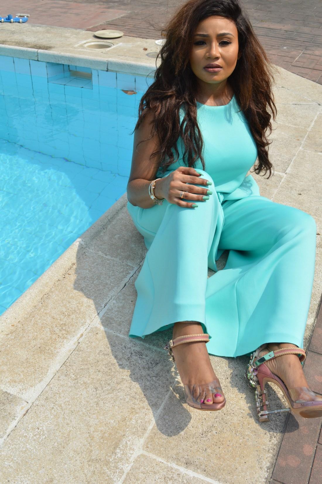 LOOK 1: CROP TOP & CULLOTTES - Bridget Awosika SHOES - Dsquared
