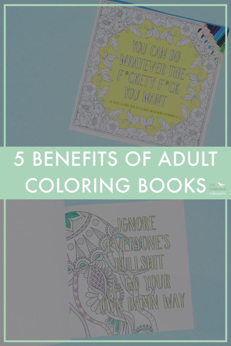 So lately I keep seeing this crazy trend about adult coloring books on-line and in major retailers like Urban Outfitters, Target, and Michael's. I kept thinking to myself, what the heck is the deal with adult coloring books? Then I started reading about all of the benefits of adult coloring books and became hooked when Bad Words Studios sent me one of theirs to try!