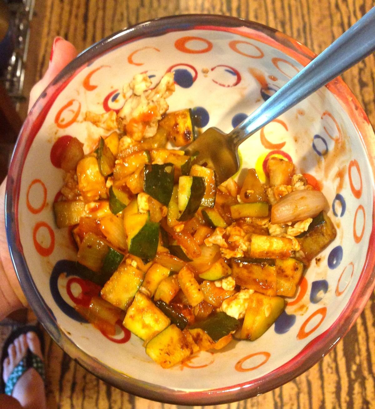 spicy vegetable egg scramble