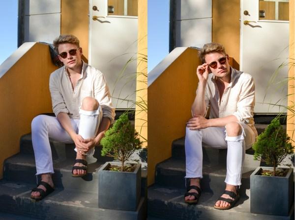 Jeans - Lee | Skor - Birkenstock | Skjorta - H&M | Solglasögon - Ray Ban