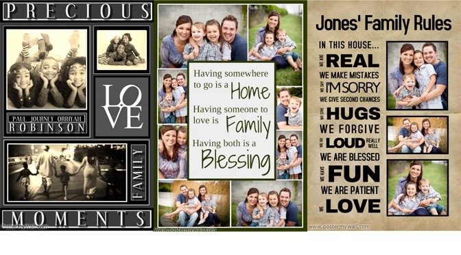 Create New Year Family Collages With PosterMyWall Design Studio