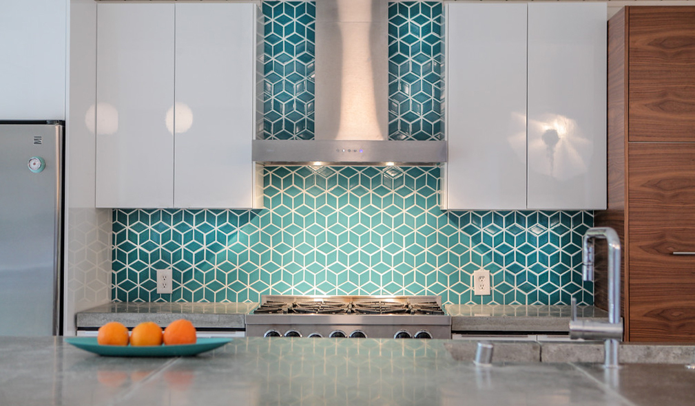 When it comes to glass tile kitchen backsplash design, it's all about what makes. Eichler Kitchen Remodel: Fireclay Tiled Backsplash — Mid ...