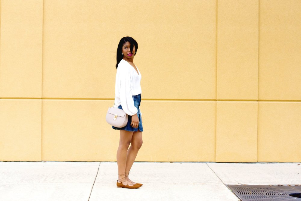 denim skirt style black dallas fashion blogger stephanie taylor jackson