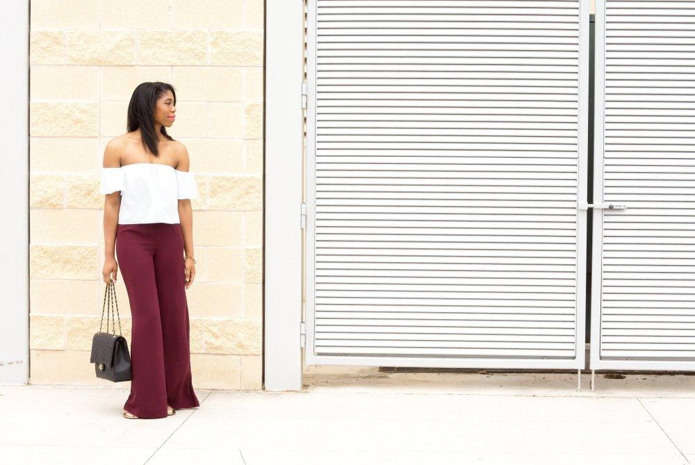 dallas fashion blogger black blogger stephanie taylor jackson off the shoulder top blouse