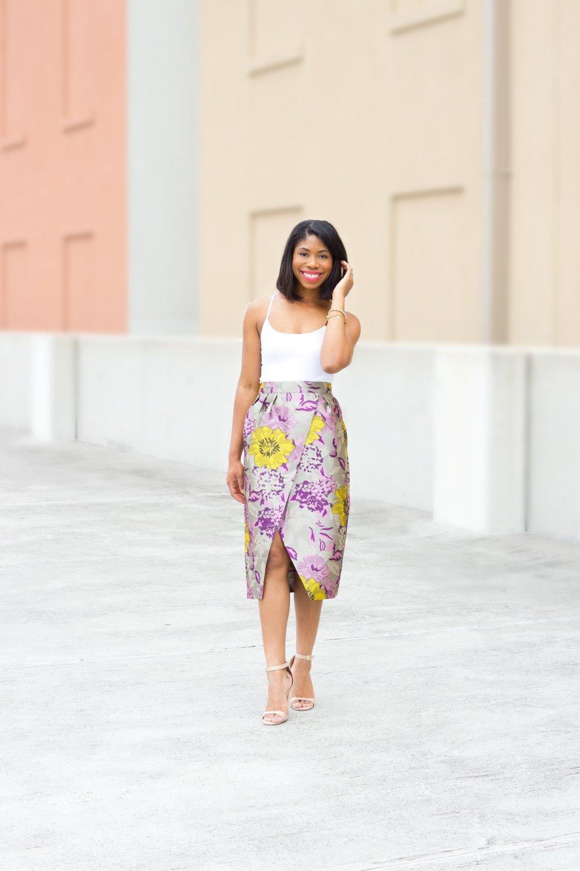 wrap skirt asos black fashion blogger stephanie taylor jackson dallas texas