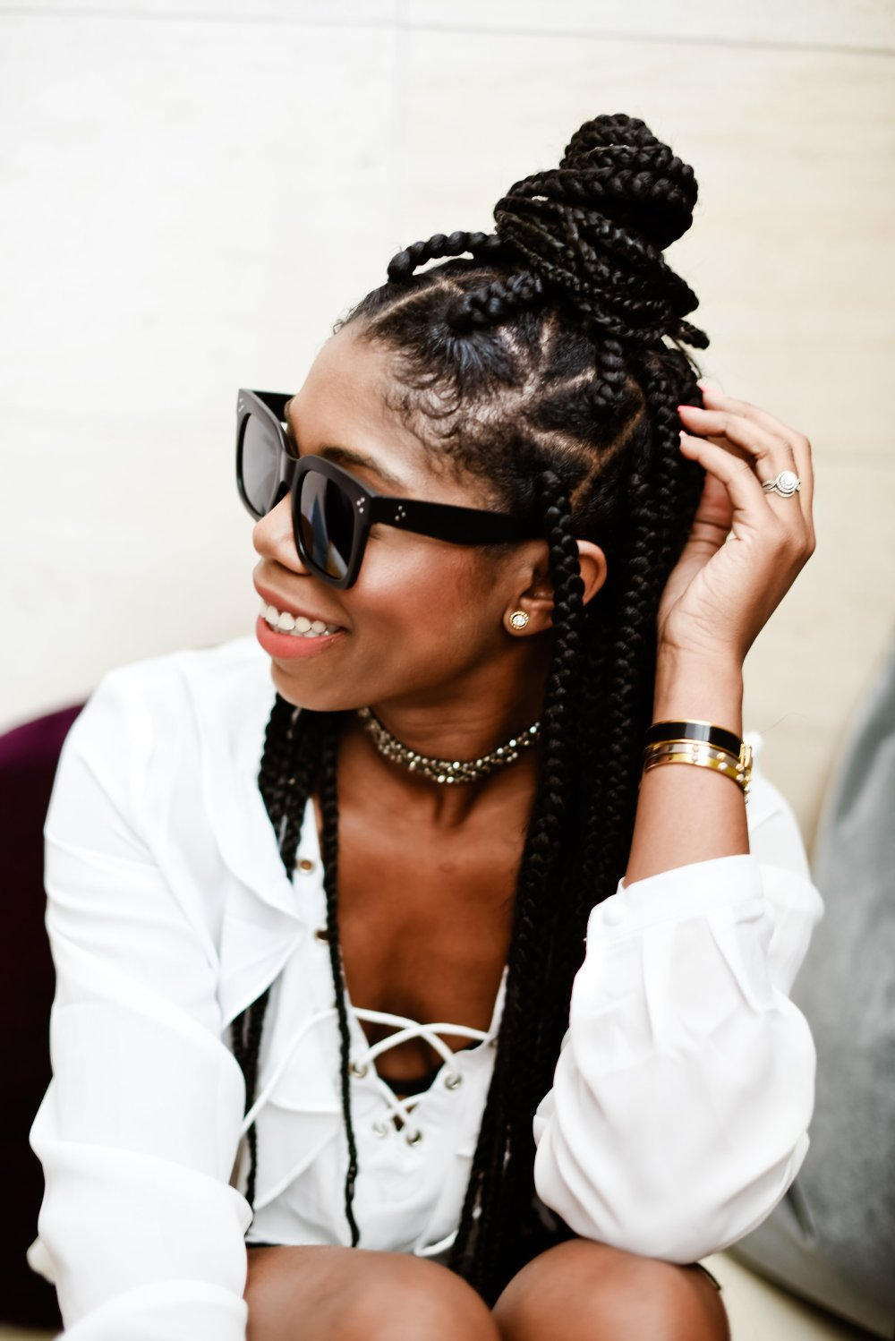 protective styling jumbo box braids dallas blogger stephanie taylor jackson