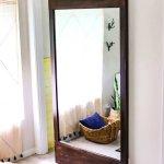 Diy Project Rustic Sliding Barn Door Full Length Mirror Swift
