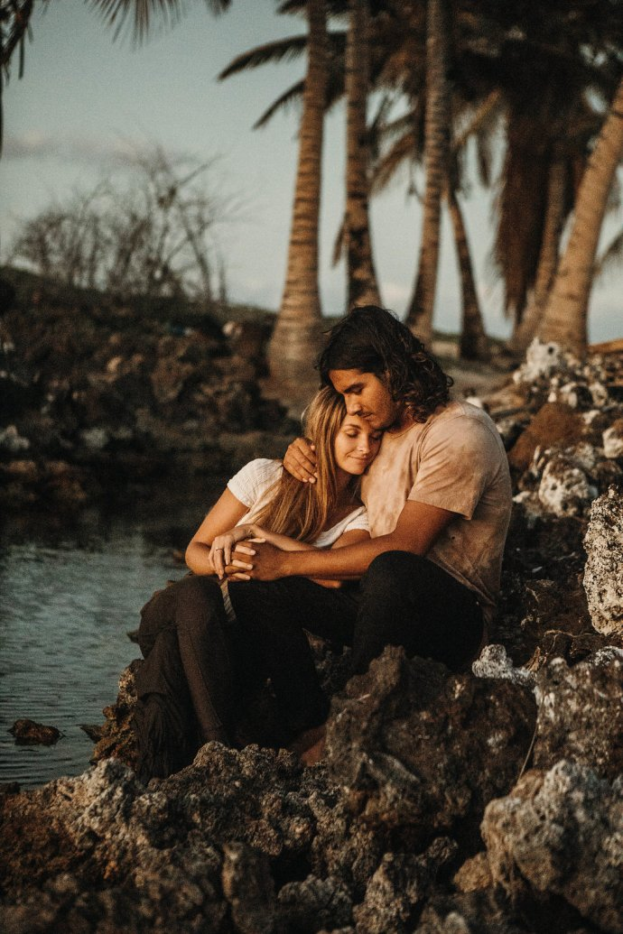 Hawaii Beach Engagement Photography