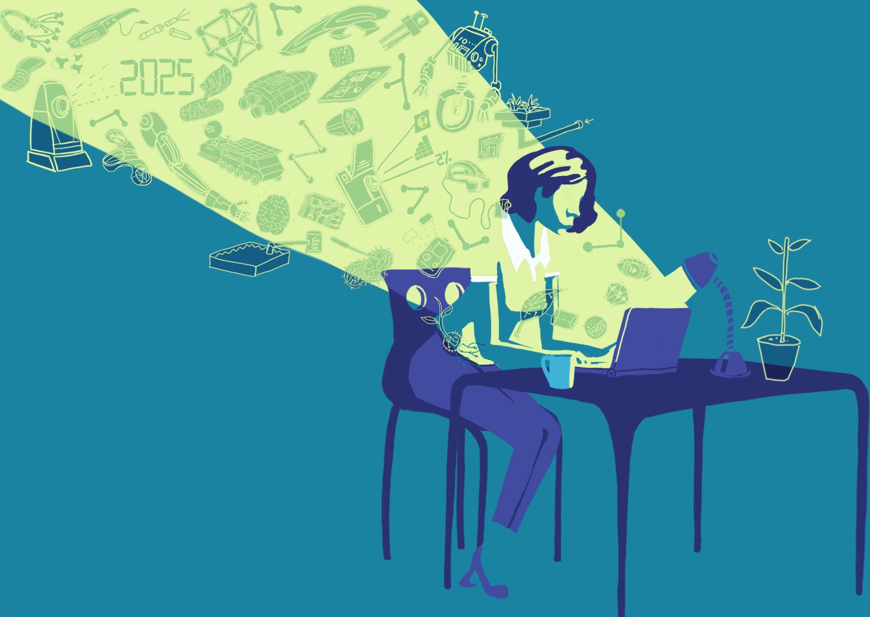 why do tech companies love illustration